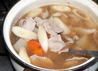 豚の味噌汁完成