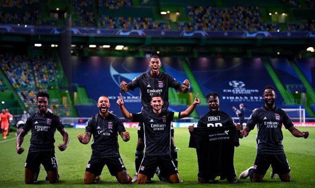 أولمبيك ليون يفجر مفاجأة ويقصي مانشستر سيتي من دوري الأبطال