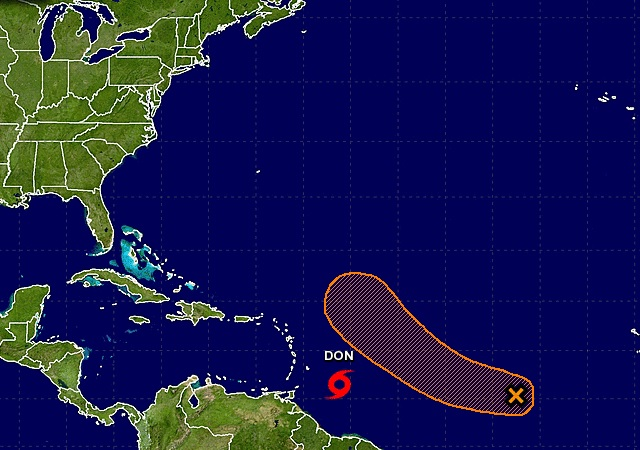 Disturbance in the southern Atlantic may become a tropical storm