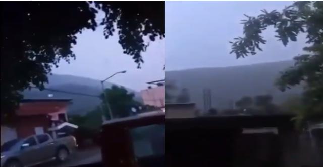 """VIDEO.- Verga.. están tirando para abajo... """"Se están dando con todo"""" con lluvia a todo lo que da captan tremendo enfrentamiento entre CJNG vs La nueva Familia Michoacana"""