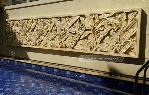 harga ornamen relief batu alam