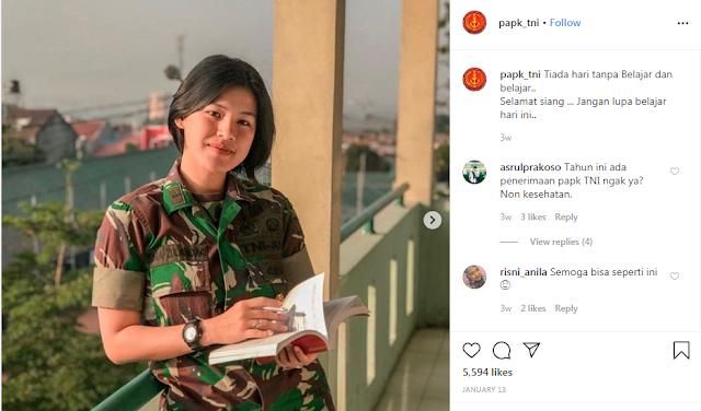 """PAPK TNI on Instagram_ """"Tiada hari tanpa Belajar dan belajar.."""