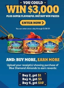 blue diamond rebate offers