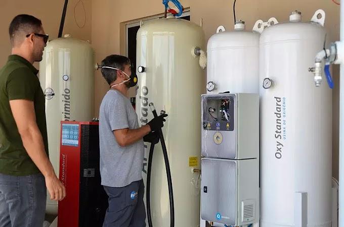 Instalação da usina de oxigênio segue a todo vapor no hospital Municipal Manoel Lucas De Miranda em Guamaré