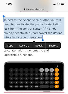 Safari copy, look-up read and share web texts
