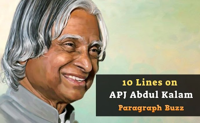 10 Lines on APJ Abdul Kalam in English