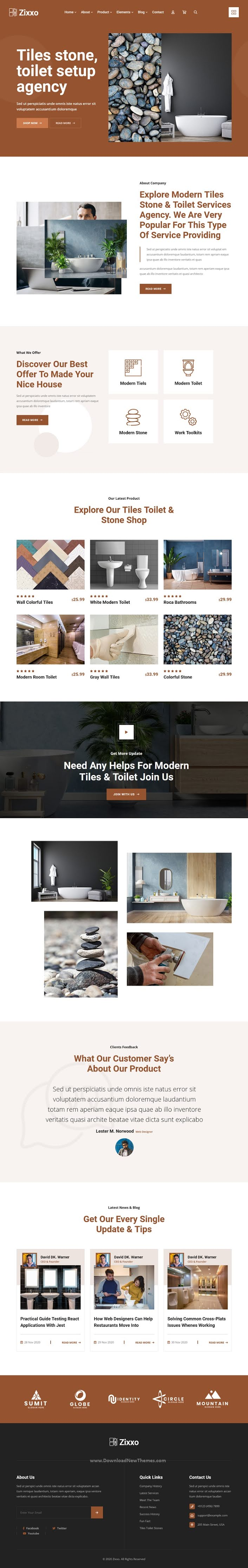 Flooring, Paving and Tiling Services Template