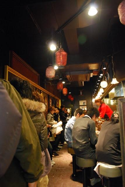 Long line at Menya Musashi Ramen. Tokyo Consult, TokyoConsult.