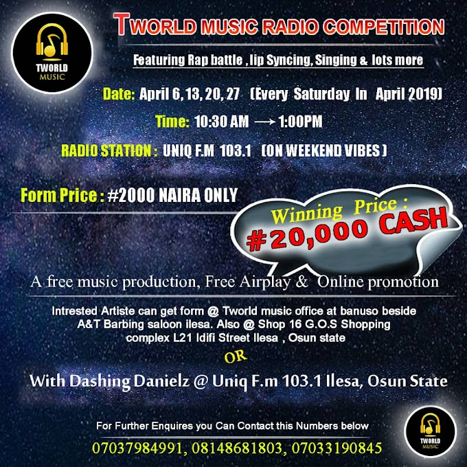 Opportunity Is calling! - To All Upcoming Star Artist - Click here to read more.......