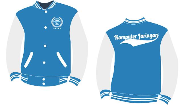 Desain Jaket Jurusan TKJ, Jaket Varcity Logo TKJ Terbaru 2016