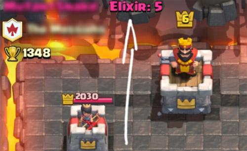 Cara melihat jumlah elixir lawan saat pertarungan clash royale dengan xmodgames