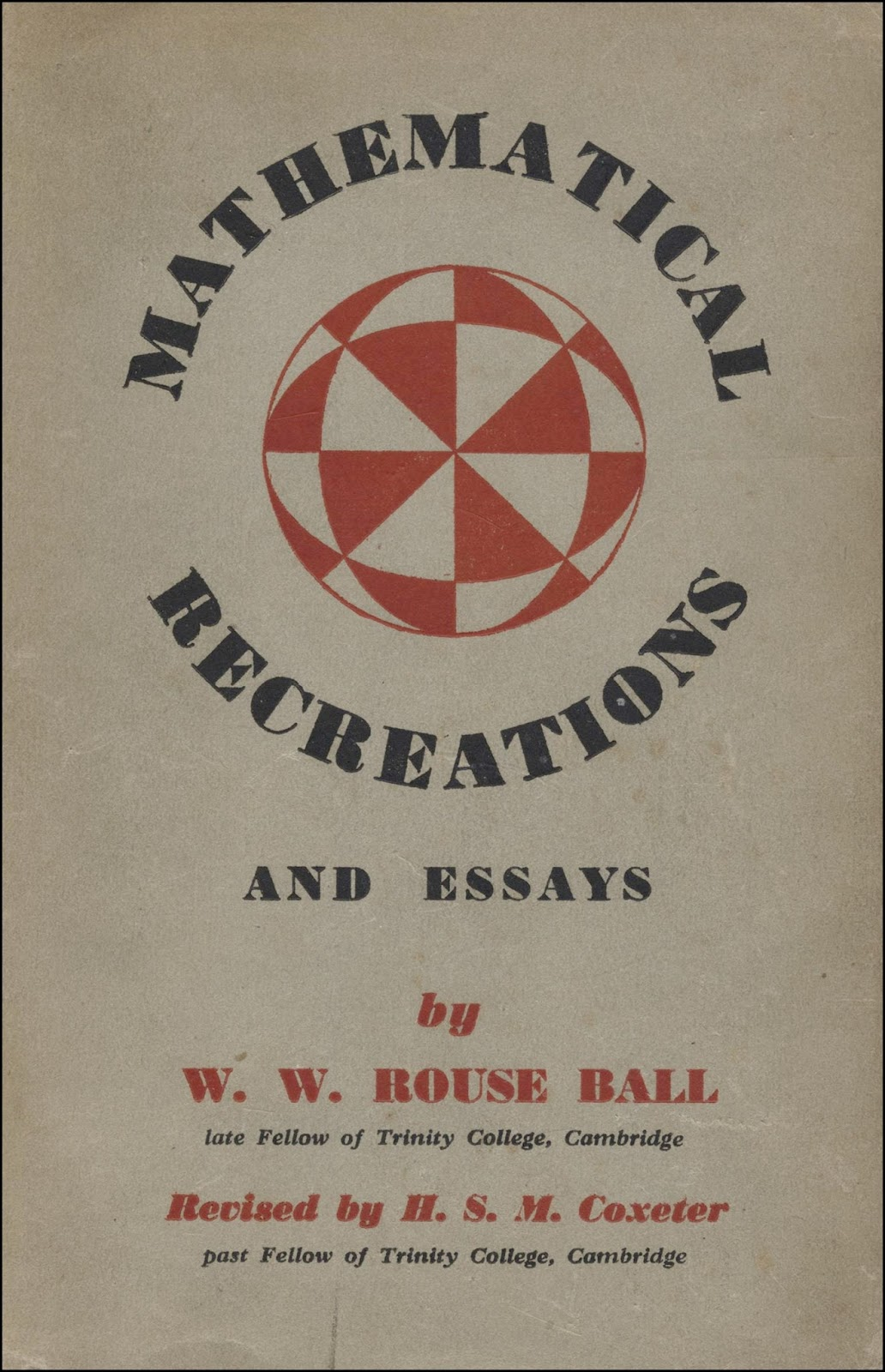 w.w. rouse ball mathematical recreations and essays Free kindle book and epub digitized and proofread by project gutenberg.
