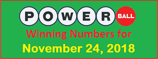 PowerBall Winning Numbers for Saturday, 24 November 2018
