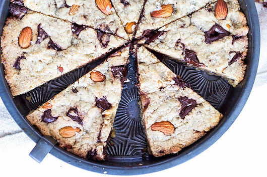 Yeasted Almond and Sea Salt Deep Dish Chocolate Chip Cookie