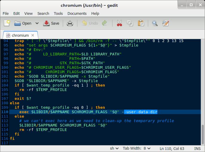 Menjalankan Browser Chromium sebagai Root di Kali Linux