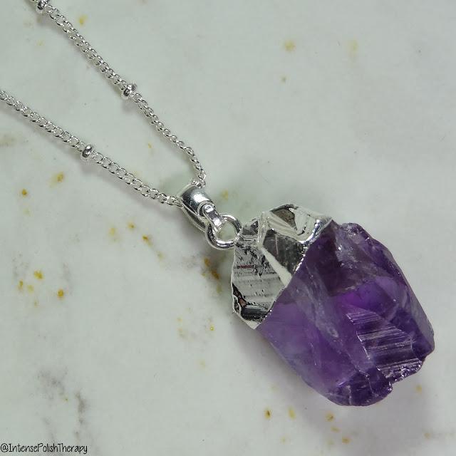 Avon canada, pendant. necklace. amethyst
