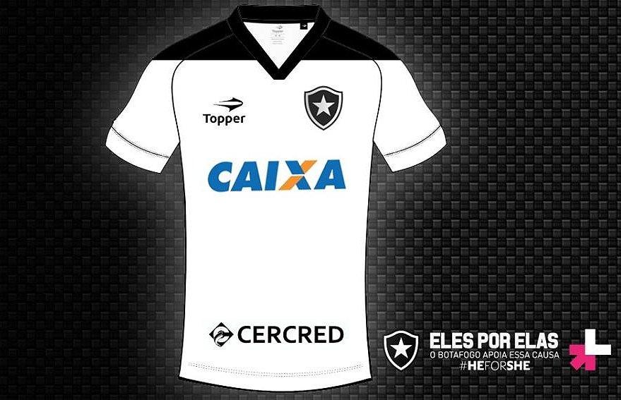 920a686dc8539 Botafogo veste camisa branca em apoio ao combate a violência contra ...