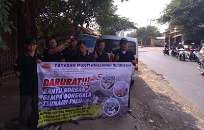 Peduli Palu dari yayasan Mukti khazanah indonesia