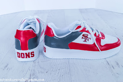 painted shoes with customized vinyl