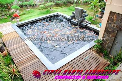 kolam ikan koi | CIPTA LANDSCAPE : jasa tukang taman