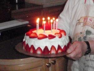 Swedish Strawberry Cake