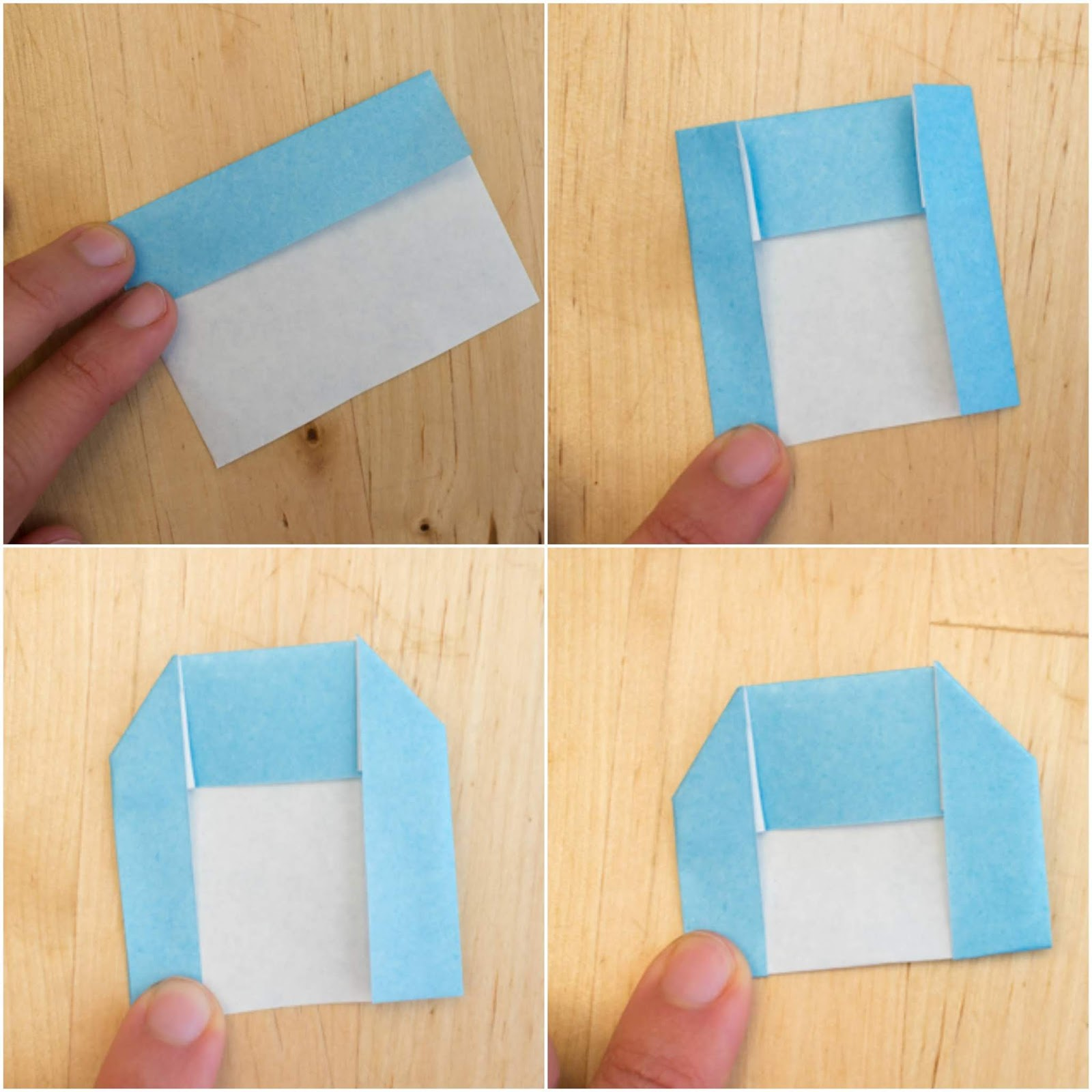 April 2018 Monthly Feature: Origami Page: Container from Rectangle | 1600x1600