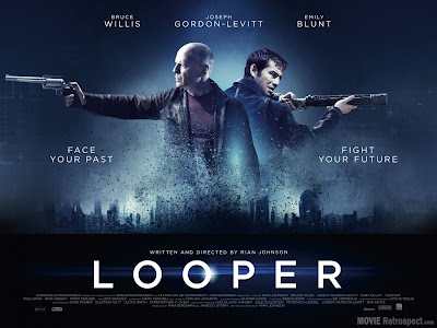Looper with Bruce Willis and Joseph Gordon-Levitt - Movie Poster