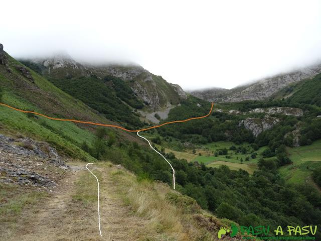 Ruta a Peña Chana: Variante sobre Brañas del Fuexo