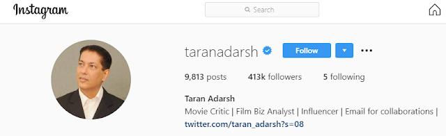 Taran Adarsh Instagram