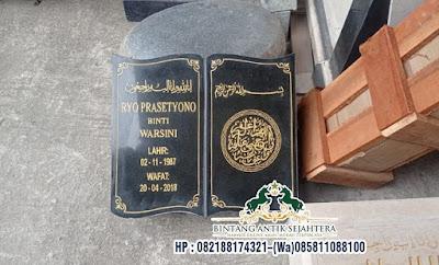 Nisan Buku Islam Bahan Granit, Nisan Buku, Nisan Bentuk Buku