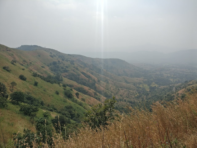 beautiful mountains and landscape as seen form the top of Pabe Ghat