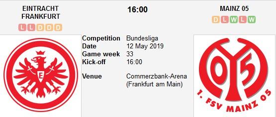 eintracht frankfurt vs mainz live