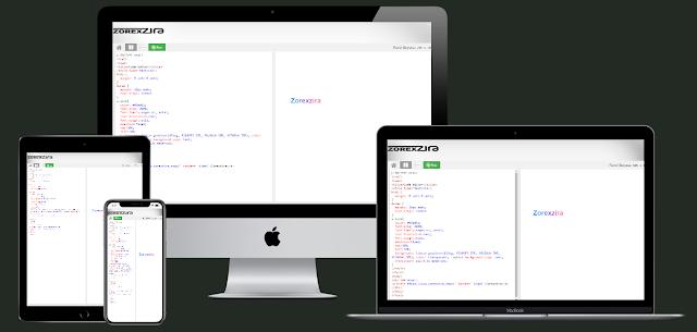 Zorex Code Editor Blogger Premium Template