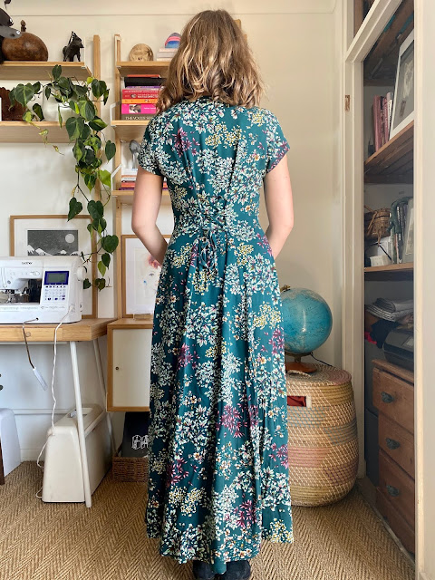 Diary of a Chain Stitcher: True Bias Shelby Dress with Lace Back in Viscose Twill from Guthrie & Ghani