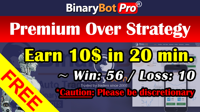 Premium Over Strategy (6-Jan-2021)   Binary Bot   Free Download