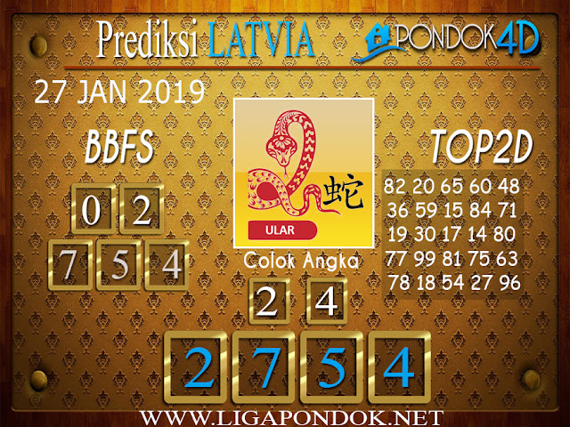 Prediksi Togel LATVIA PONDOK4D 27 JANUARI 2019