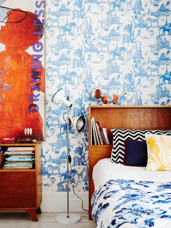 Interior vintage  para una casa de estilo eduardiano chicanddeco