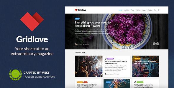 Gridlove v1.8.0 - Chủ đề Tin tức & Tạp chí Phong cách Lưới Sáng tạo