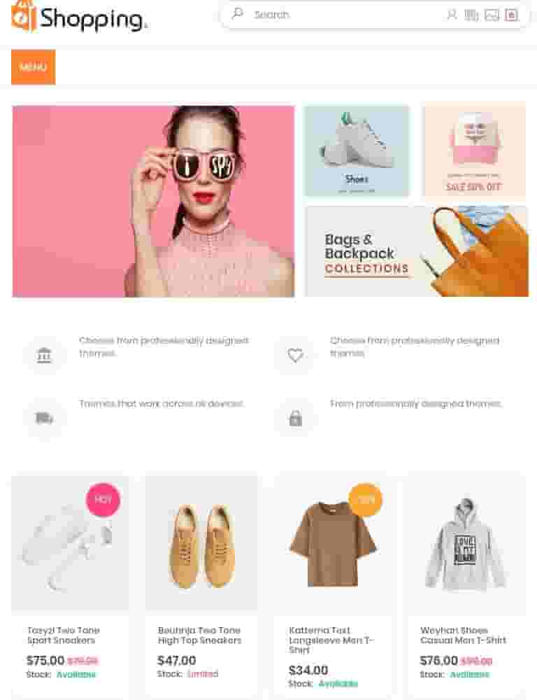 Shopping  AMP Blogger Template