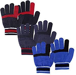 3 Pairs of Kids Winter Gloves
