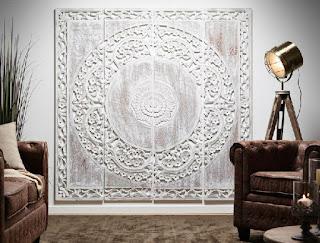 Panel Tallado Mural 4 Piezas Grande