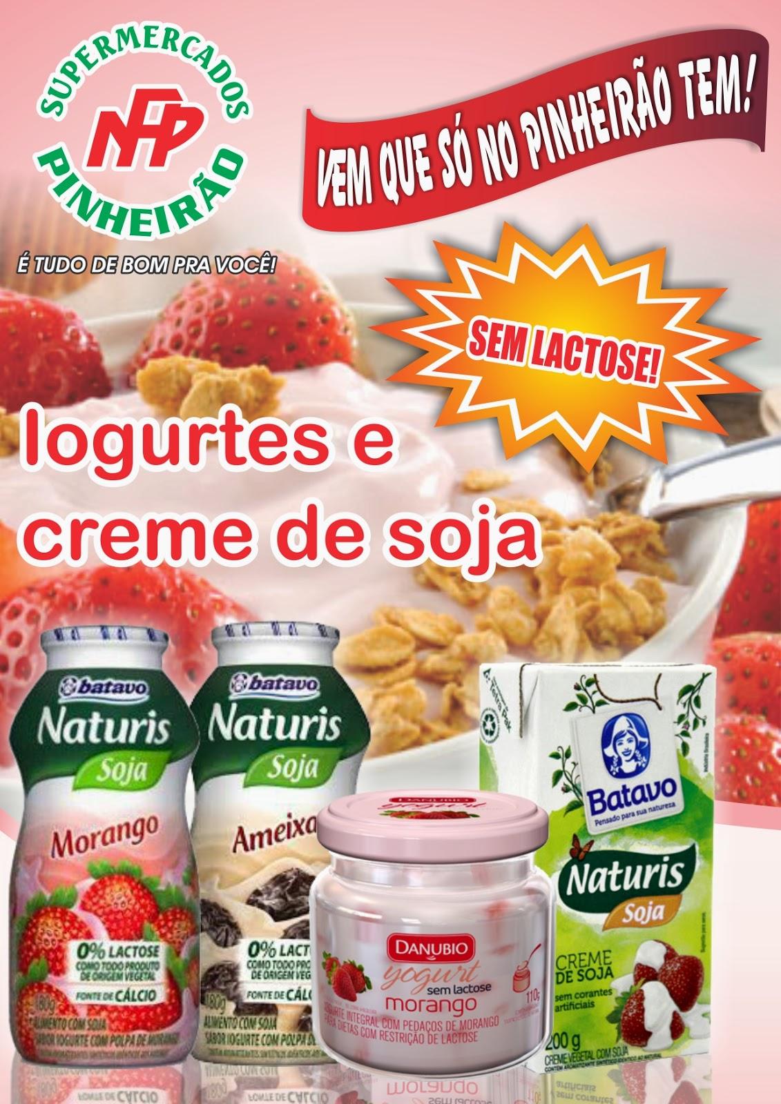 supermercados pinheir o iogurtes e creme de soja sem lactose. Black Bedroom Furniture Sets. Home Design Ideas