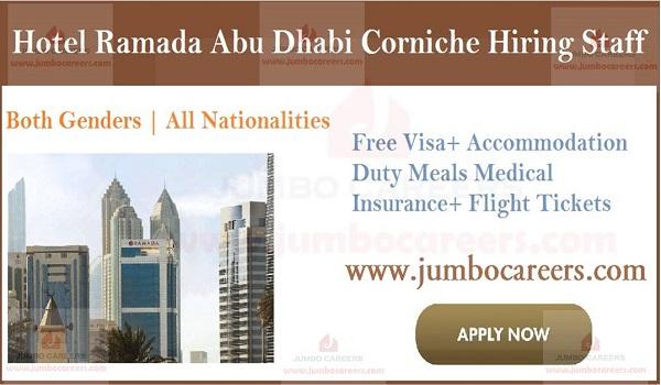 Urgent UAE job vacancies, latest hotel jobs in Abu Dhabi,