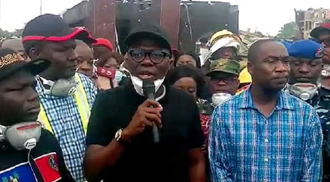 Governor Of Lagos State Has Announced N2billion For The Affected Victims Of  Abule-Ado Pipeline Explosion