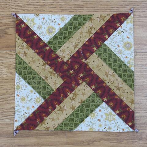 Whirlwind Quilt Block Free Tutorial designed by Elaine Huff of Fabric 406