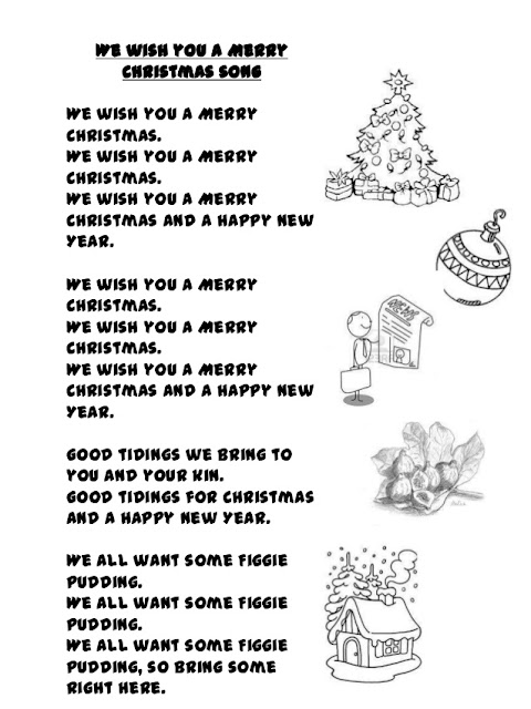 We Wish You a Merry Christmas Songs Lyrics