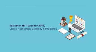 Rajasthan Nursery Teacher (NTT) Vacancy 2018 Notification