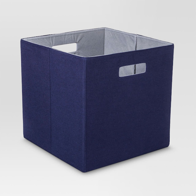 navy cubby bins from Target