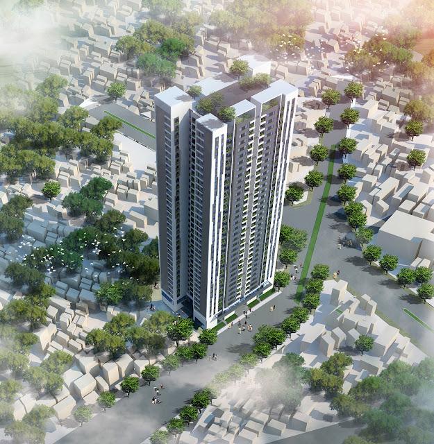 Phối cảnh chung cư Trung Yên Smile Building