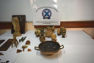 Τέσσερις συλλήψεις για αρχαιοκαπηλία